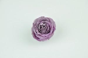 Preserved Rose heads L (5-6.5 cm) light purple