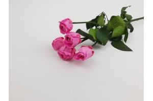Preserved spray rose 5 heads XS (2-3 cm) pink
