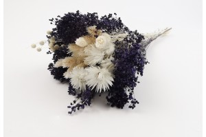 Dried flowers bouquet purple (size S)