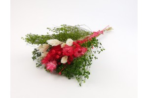 Dried flowers bouquet red (size S)
