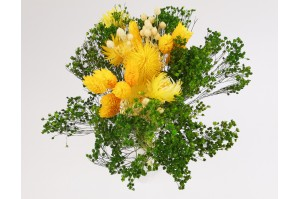 Dried flowers bouquet yellow (size S)
