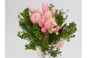 Dried flowers bouquet pink (size S)