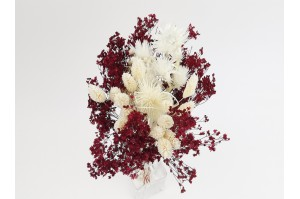 Dried flowers bouquet red bordeaux (size S)