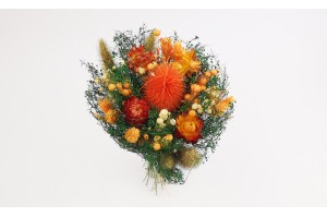 Dried flowers  bouquet orange (Size M)