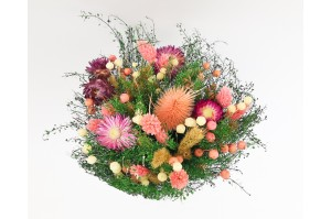 Dried flowers  bouquet pink (Size M)