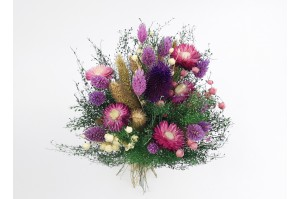 Dried flowers  bouquet purple (Size M)