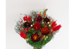 Dried flowers bouquet red (Size M)