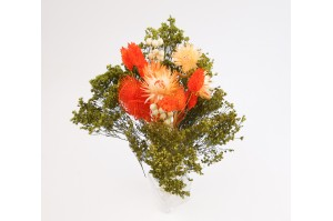 Dried flowers bouquet orange (size S)